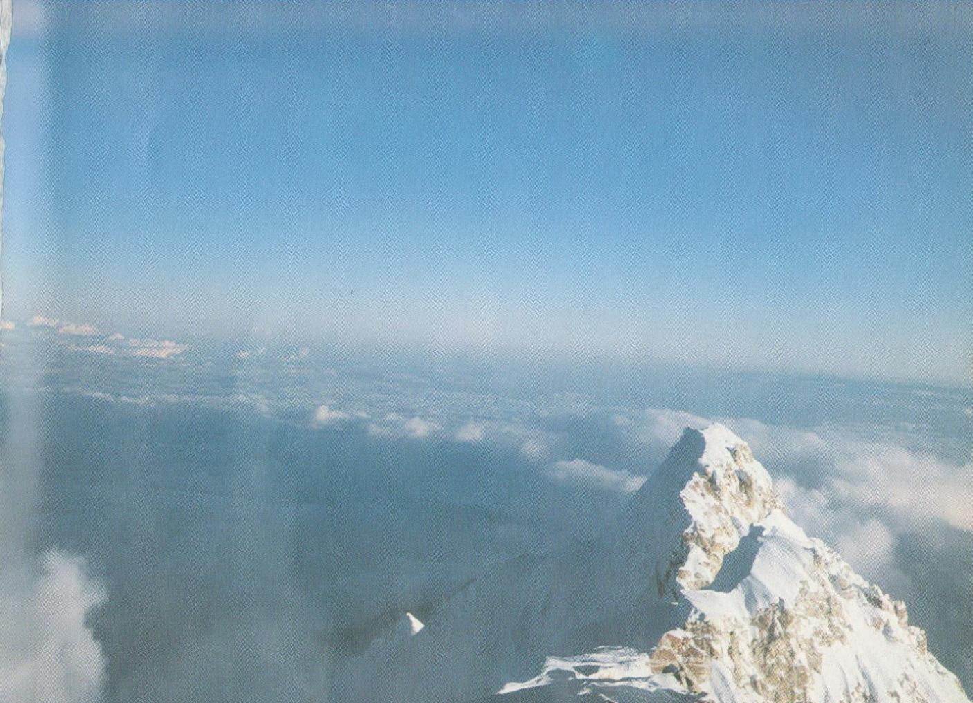 Виды с вершины Главная Канченджанга на восток, Южная Канченджанга