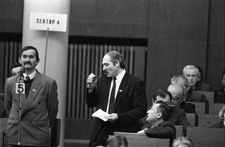 Выступ старшыні часовай камісіі па барацьбе з карупцыяй А.Г. Лукашэнка на 13-й сэсii ВС РБ, 1994 год