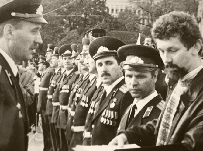 Афіцэры новастворанага «Беларускага згуртавання вайскоўцаў»