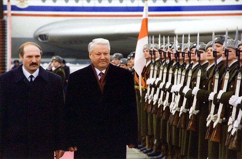 Аляксандр Лукашэнака і Барыс Ельцын, 1995 год