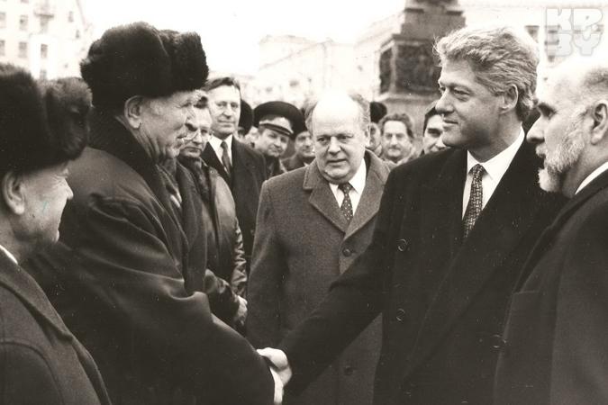 Во время встречи с белорусскими ветеранами