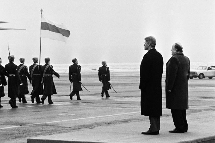 Клинтон в Минске. Фото Сергея Брушко