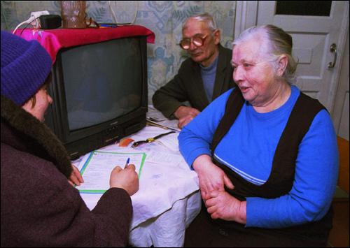 В ходе переписи населения 1999 года выяснилось, что пятая часть населения страны – пенсионеры.